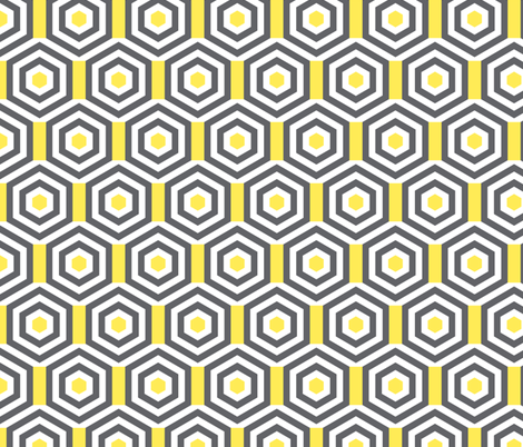 hexagonometry fabric by zesti on Spoonflower - custom fabric