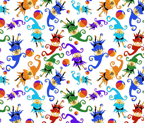 Tumbling Jesters fabric by poetryqn on Spoonflower - custom fabric