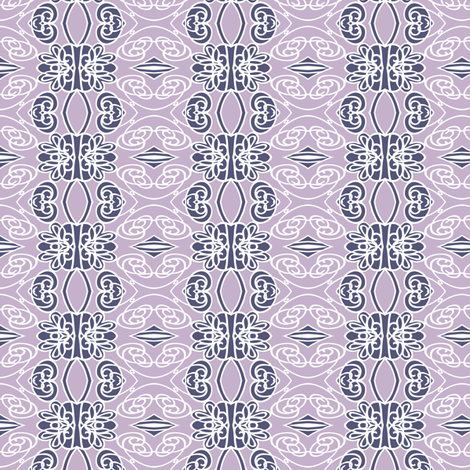 Swirls on Lilac fabric by kezia on Spoonflower - custom fabric