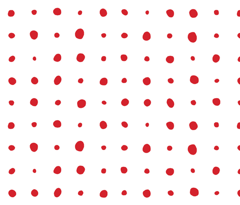 rainy_dots_red fabric by holli_zollinger on Spoonflower - custom fabric