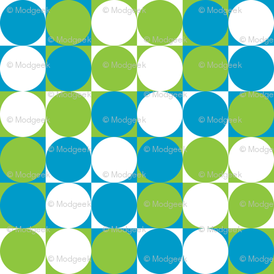 Circles & Squares Blue
