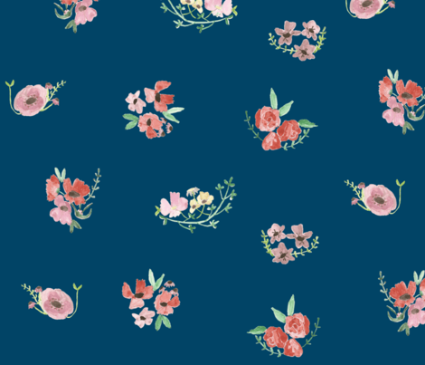 vita- on royal blue fabric by tinyhappy on Spoonflower - custom fabric