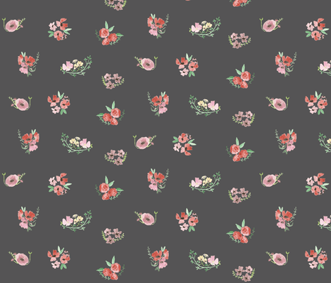 vita- on grey fabric by tinyhappy on Spoonflower - custom fabric