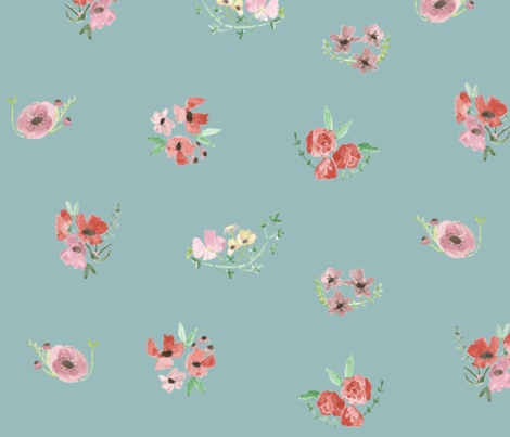 vita - sky blue fabric by tinyhappy on Spoonflower - custom fabric