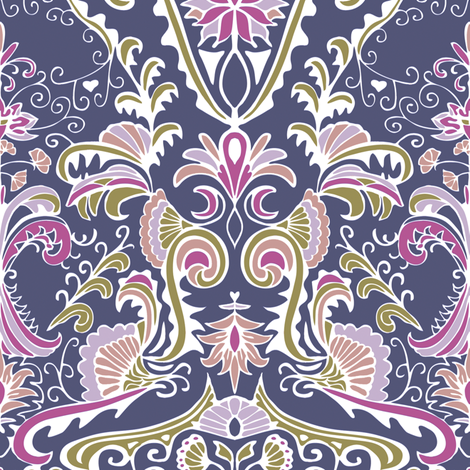 Organic Damask fabric by kezia on Spoonflower - custom fabric