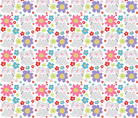 SPRING BRIGHT BUNNY fabric by jaja on Spoonflower - custom fabric