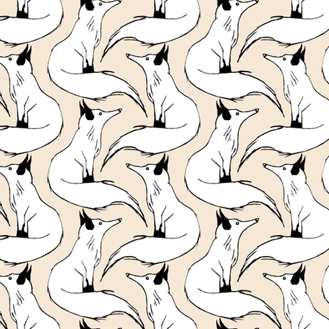 Arctic Foxes fabric by pond_ripple on Spoonflower - custom fabric