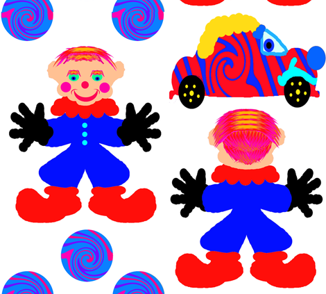 ArtyClownDoll fabric by grannynan on Spoonflower - custom fabric