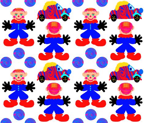ArtyClownDoll fabric by grannynan on Spoonflower - custom fabric