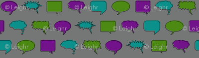 Comic Speech Bubbles (Villain colorway)
