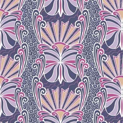Deco Butterfly fabric by kezia on Spoonflower - custom fabric