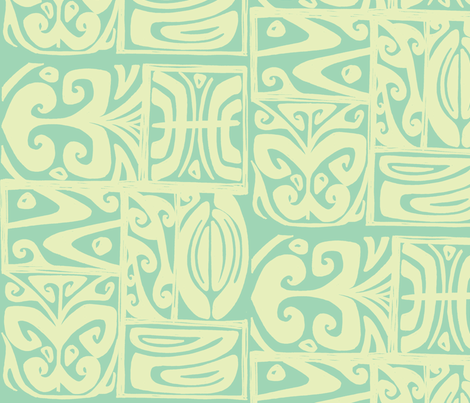 Absractiva 2, Honolulu market, cloud fabric by sophista-tiki on Spoonflower - custom fabric