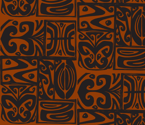 Absractiva, Honolulu Market, kukui fabric by sophista-tiki on Spoonflower - custom fabric