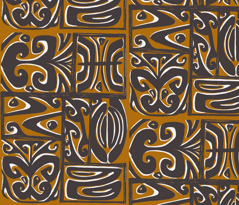 Abstarctiva 2, honolulu market, traditional fabric by sophista-tiki_by_dawn_frasier on Spoonflower - custom fabric