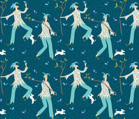 The fool fabric by vo_aka_virginiao on Spoonflower - custom fabric