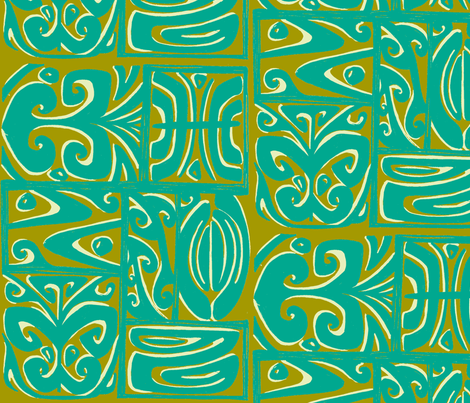 absractiva 2 ,Honolulu market. tidepool fabric by sophista-tiki on Spoonflower - custom fabric