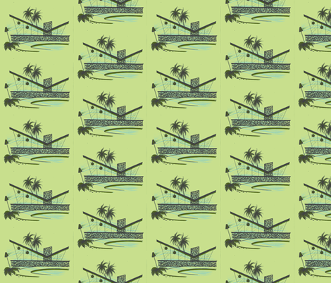 Easy Living, escape, grassland fabric by sophista-tiki on Spoonflower - custom fabric