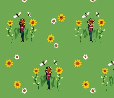 Sunflower Fools fabric by evamarion on Spoonflower - custom fabric
