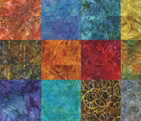 Quilted Batik fabric by pixeldust on Spoonflower - custom fabric
