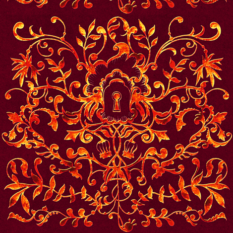 Rococo 3 fabric by jadegordon on Spoonflower - custom fabric
