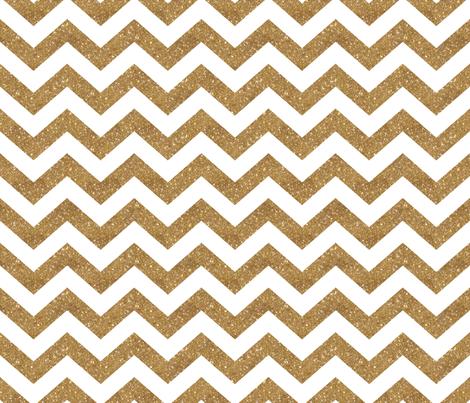 Glitter Chevron Gold fabric by cynthiafrenette on Spoonflower - custom fabric