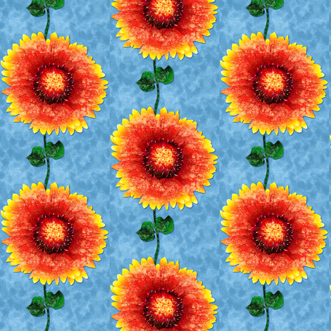 Daisy Susan fabric by jadegordon on Spoonflower - custom fabric