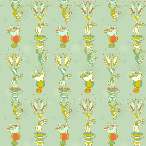 Acrobatic Jesters & Fools - © Lucinda Wei fabric by lucindawei on Spoonflower - custom fabric