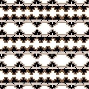 native navajo_design brown&white