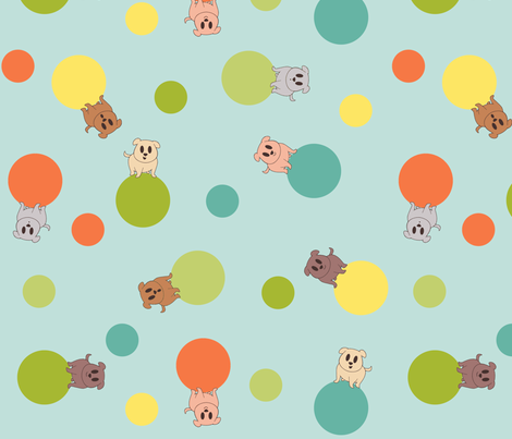 I See Spots (bright) fabric by leighr on Spoonflower - custom fabric