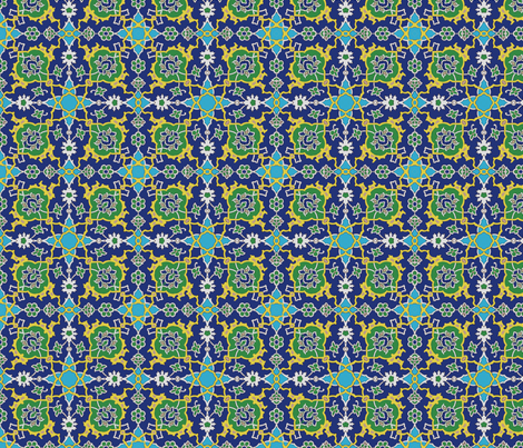 Iznik_flow fabric by buckskin_fringe on Spoonflower - custom fabric