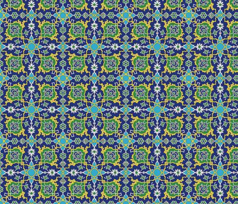 Iznik_flow fabric by buckskin_fringe on Spoonflower - custom fabric