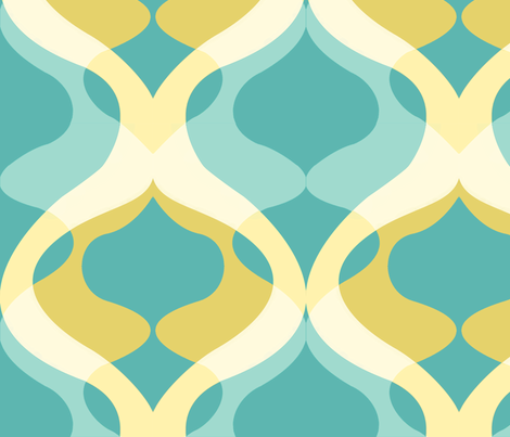Retro blues fabric by myracle on Spoonflower - custom fabric