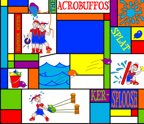 The_Acrobuffos fabric by jumping_monkeys on Spoonflower - custom fabric