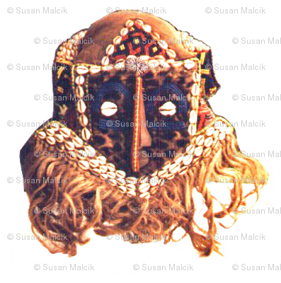 Royal Bakuba Female Mask