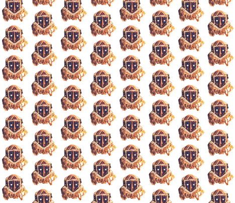 Royal Bakuba Female Mask fabric by susaninparis on Spoonflower - custom fabric
