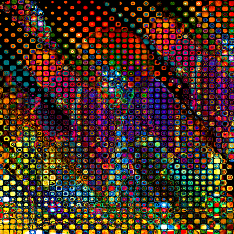 Crayon the Clown / Psychedelic  fabric by paragonstudios on Spoonflower - custom fabric