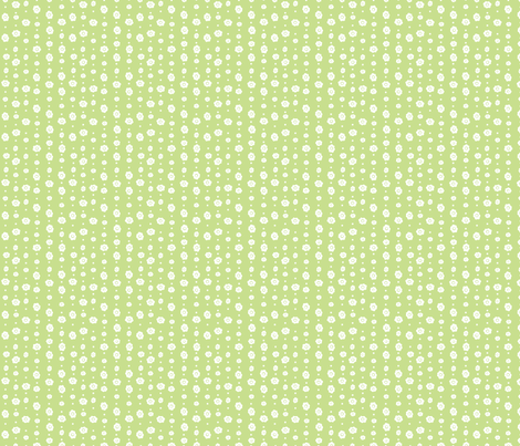 Spring Green Floral fabric by wildnotions on Spoonflower - custom fabric