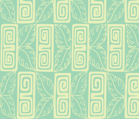 Bora Bora intercontinenatl guest, cloud fabric by sophista-tiki_by_dawn_frasier on Spoonflower - custom fabric