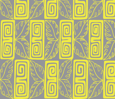 bora Bora intercontinental guest, grey fabric by sophista-tiki_by_dawn_frasier on Spoonflower - custom fabric
