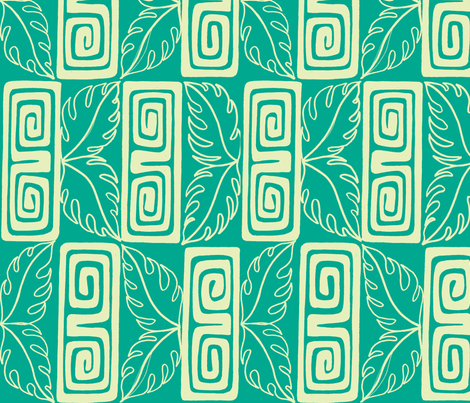 Bora Bora Intercontinenta guest, poolside fabric by sophista-tiki on Spoonflower - custom fabric