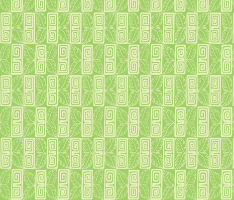 Bora Bora Inter Continental guest, seafoam  fabric by sophista-tiki on Spoonflower - custom fabric