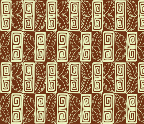 Bora Bora intercontinental, guest, tobacco fabric by sophista-tiki on Spoonflower - custom fabric