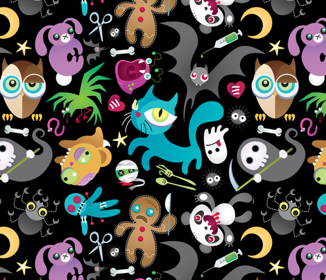Creepy Critters fabric by killsandy on Spoonflower - custom fabric