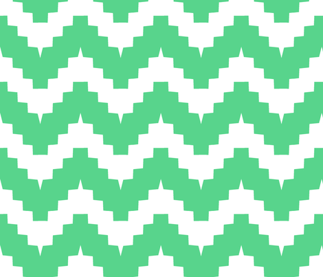 chevron white and green - large fabric by ravynka on Spoonflower - custom fabric