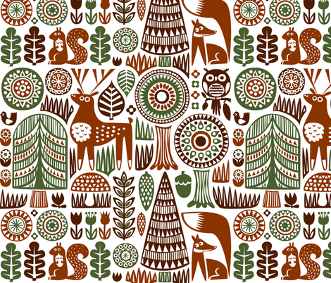 autumn forest  fabric by dennisthebadger on Spoonflower - custom fabric