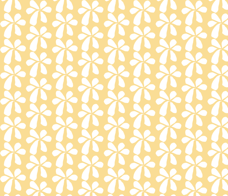 Yellow Flowers fabric by renewfabrics on Spoonflower - custom fabric