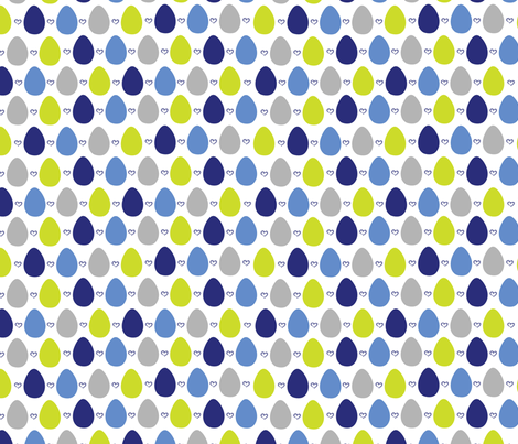 BlueBird-eggs fabric by abby_zweifel on Spoonflower - custom fabric