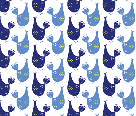 BlueBird-tweeters fabric by abby_zweifel on Spoonflower - custom fabric