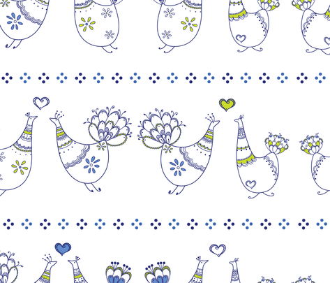 BlueBird-farmhouse fabric by abby_zweifel on Spoonflower - custom fabric