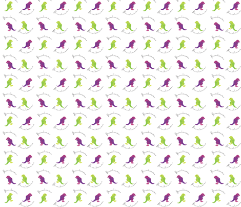 personalized dinosaurs fabric by wendyg on Spoonflower - custom fabric